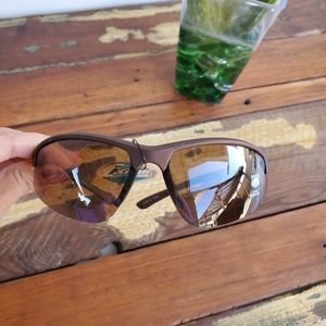 MENS BROWN CLEAR SPORTS SUNGLASSES